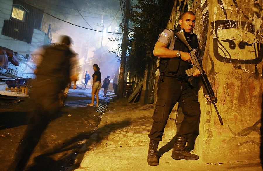 Shootings Break Out in Pacified Favela Near Copacabana Beach Photograph by Mario Tama