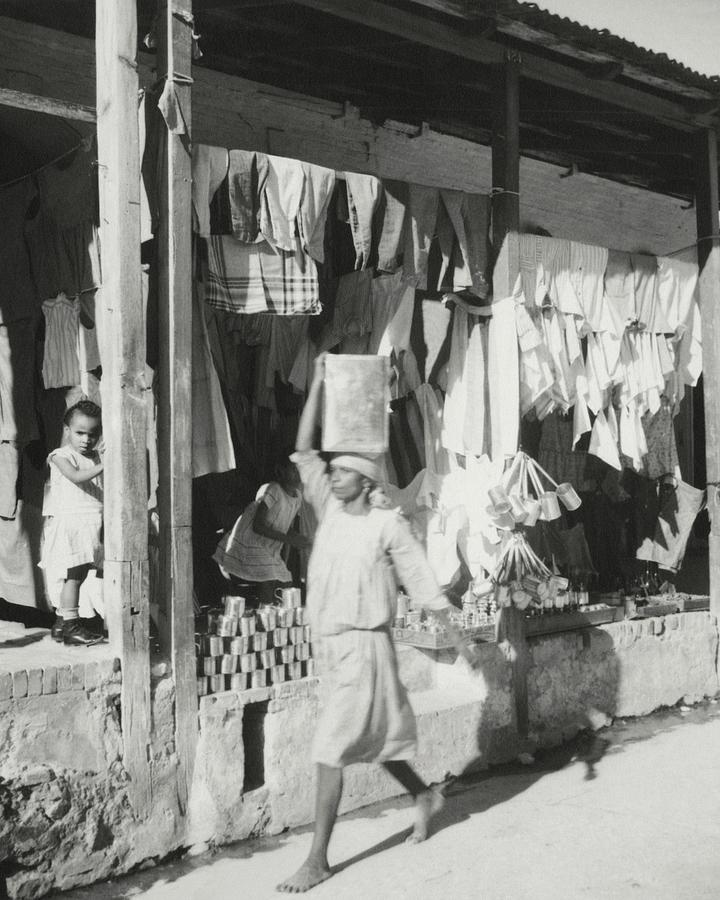 Shop Fronts In Haiti Photograph by Cecil Beaton