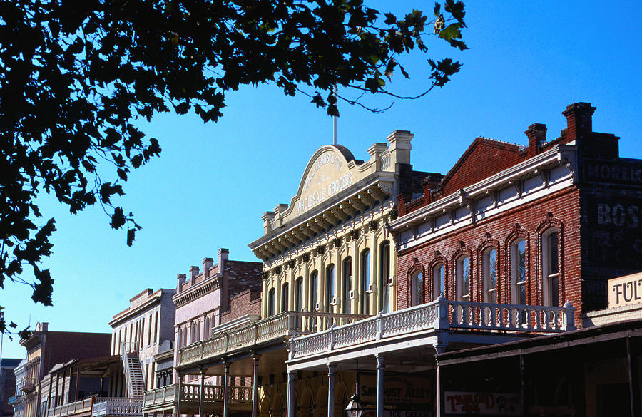 Shop Fronts In Old Sacramento - Photograph by Rick Gerharter