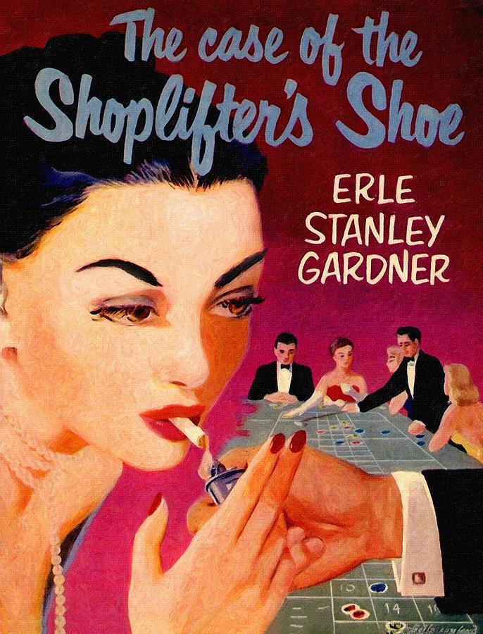 Paperback Painting - Shoplifters Shoe. Vintage Pulp Fiction Paperback by John Farr
