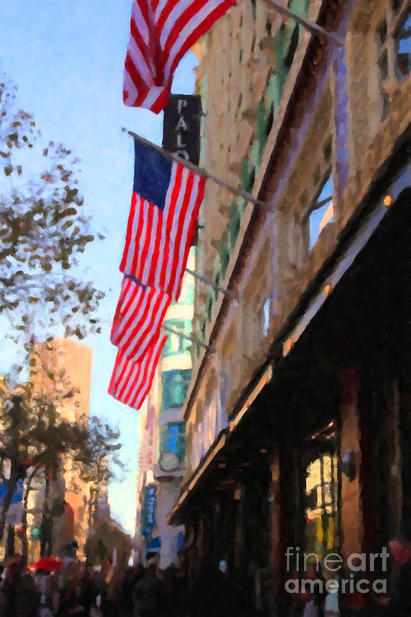 San Francisco Photograph - Shopping Along Market Street In San Francisco - 5d20717 by Wingsdomain Art and Photography