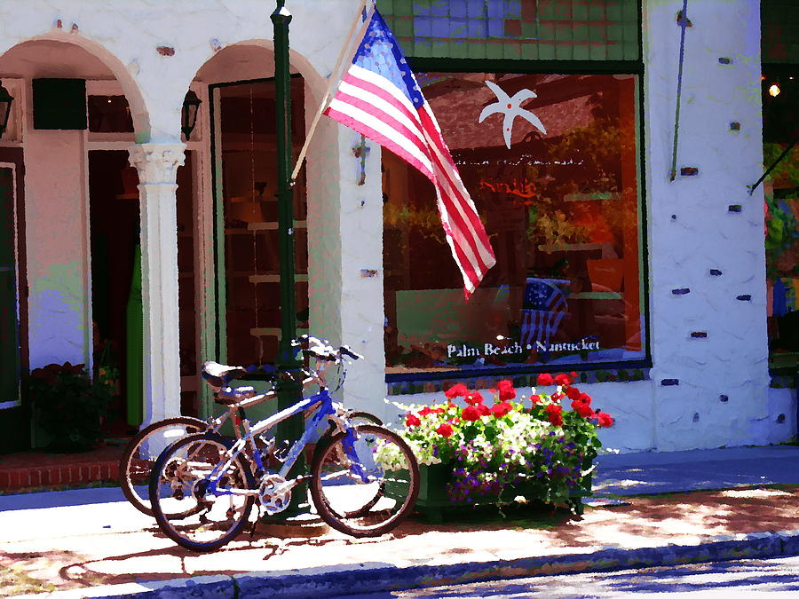 Hamptons Photograph - Shopping In The Hamptons by Jacqueline M Lewis