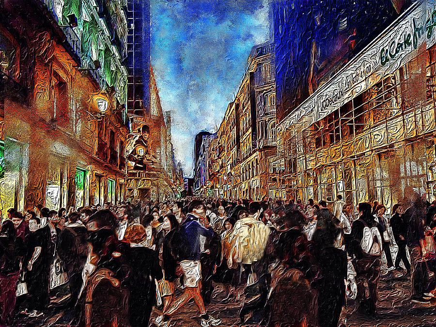 Cary Shapiro Digital Art - Shopping Madness by Cary Shapiro