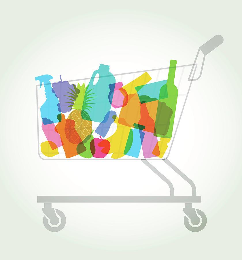 Shopping Or Supermarket Trolley Digital Art by Smartboy10