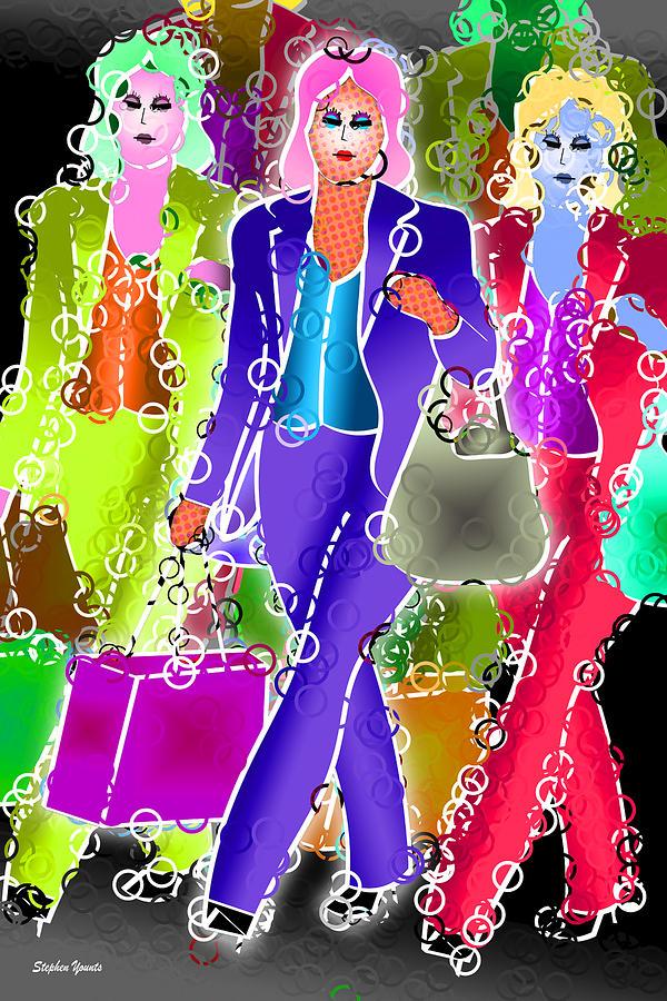Shop Digital Art - Shopping by Stephen Younts