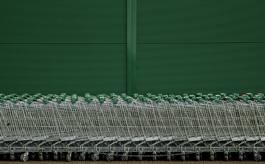 Abstract Photograph - Shopping Trolleys by Inge Schuster