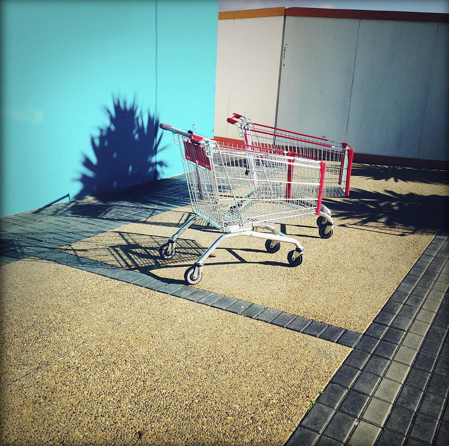 Cart Photograph - Shopping Trolleys  by Les Cunliffe