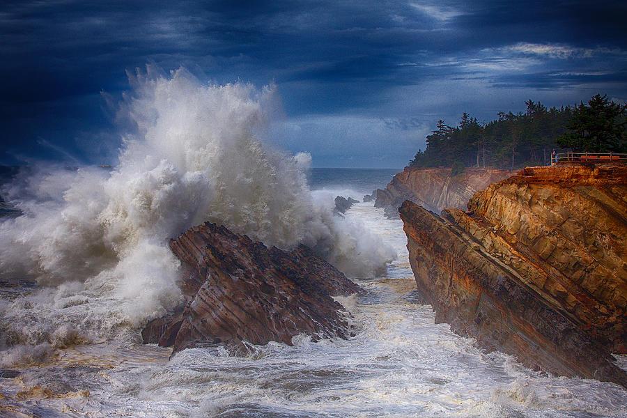 Storm Photograph - Shore Acre Storm by Darren  White