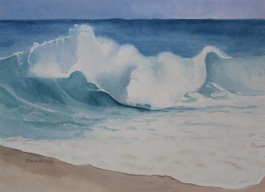Beach Painting - Shore Breaker by Parrish Hirasaki