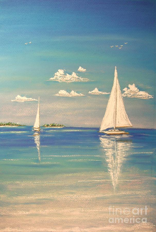 Tropical Painting - The Cays by The Beach  Dreamer