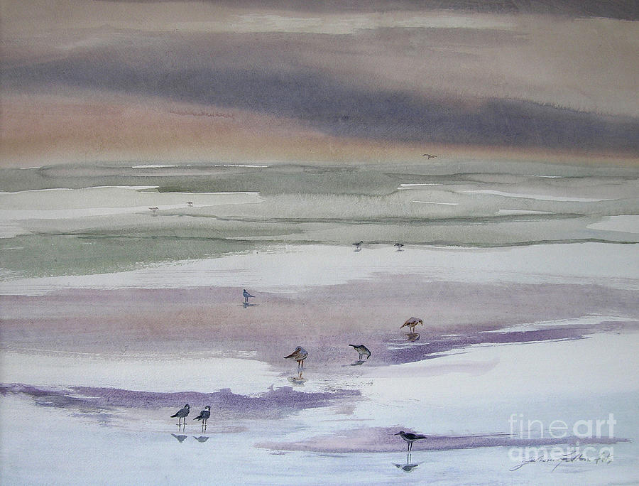 Shoreline Birds II by Julianne Felton