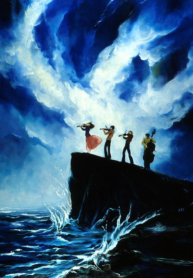 Shoreline Painting - Shoreline Music by Lynette Yencho
