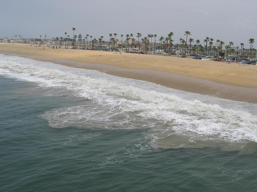 Landscape Photograph - Shoreline Newport Beach by Phyllis Tarlow