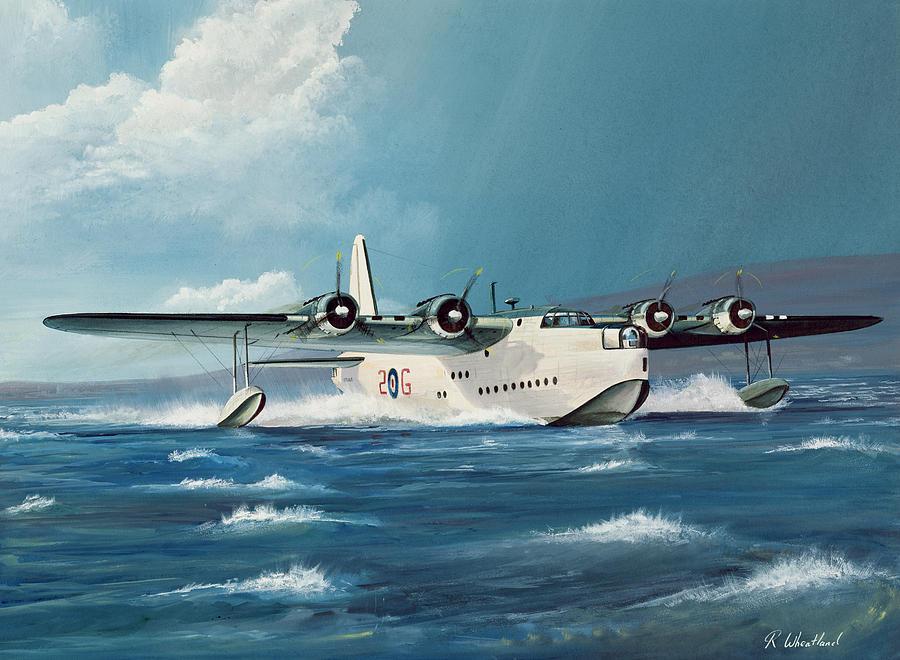 Short Sunderland Painting By Richard Wheatland