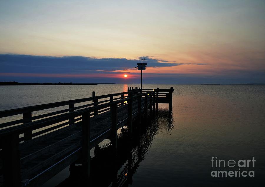 Seascapes Photograph - Short Walk On A Long Pier by Mel Steinhauer