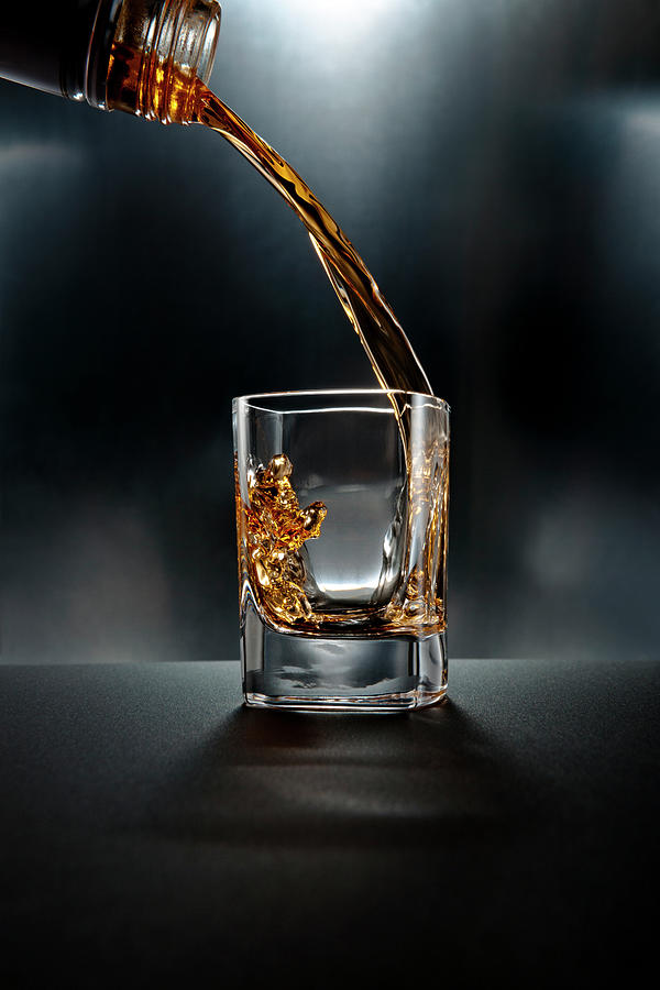Shot Glass Drink On Black Photograph by Chris Stein