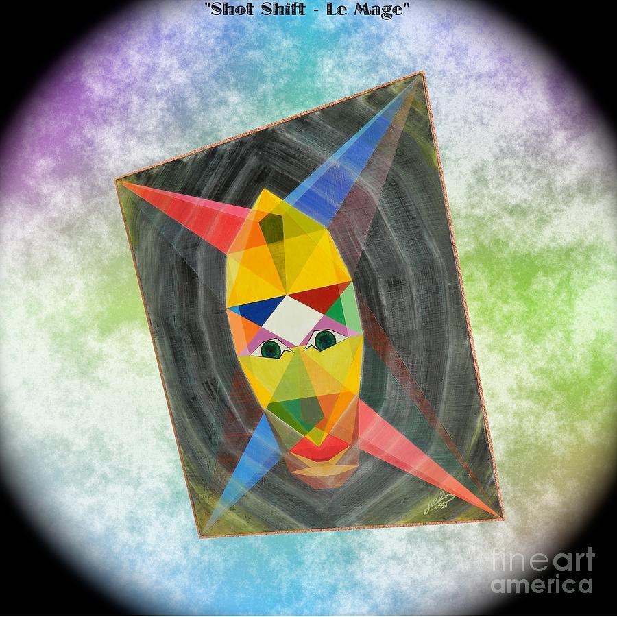 Modernism Painting - Shot Shift - Le Mage 1 by Michael Bellon