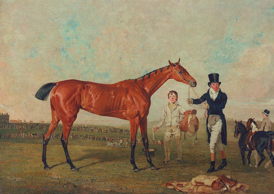 Horse Painting - Shoveller Held By Her Trainer Will Chifney by Benjamin Marshall