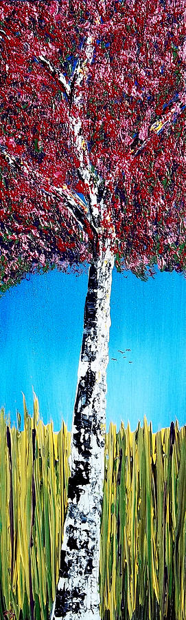 Maroon Painting - Show Me The Color by Peter Stevenson