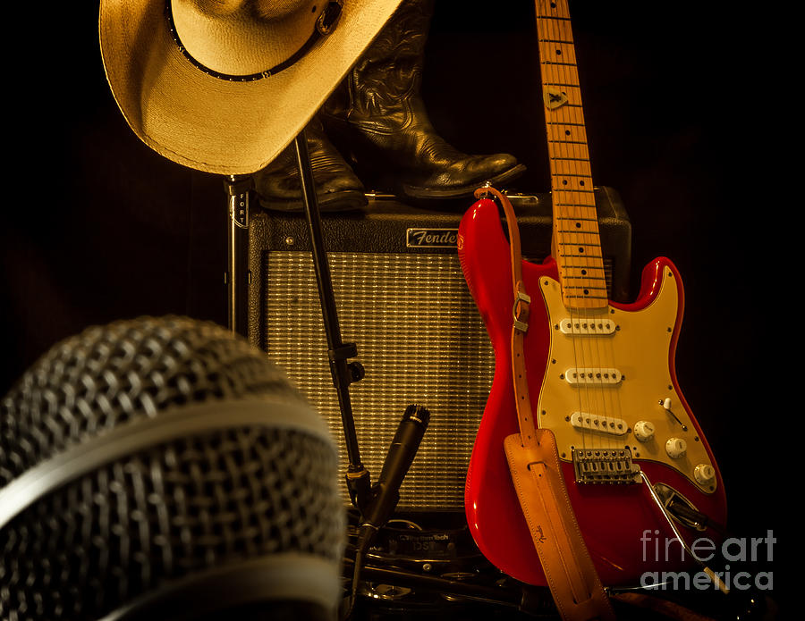 Guitar Photograph - Shows Over by Robert Frederick