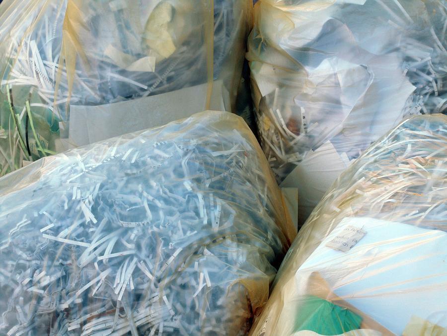 Rubbish Photograph - Shredded Documents by Alex Bartel