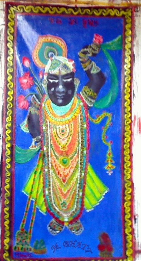 Shreenathji Painting - Shreenathji by M Bhatt