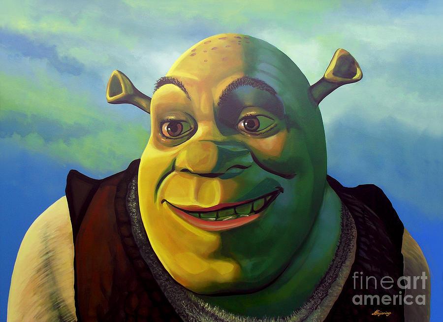 Shrek Painting By Paul Meijering