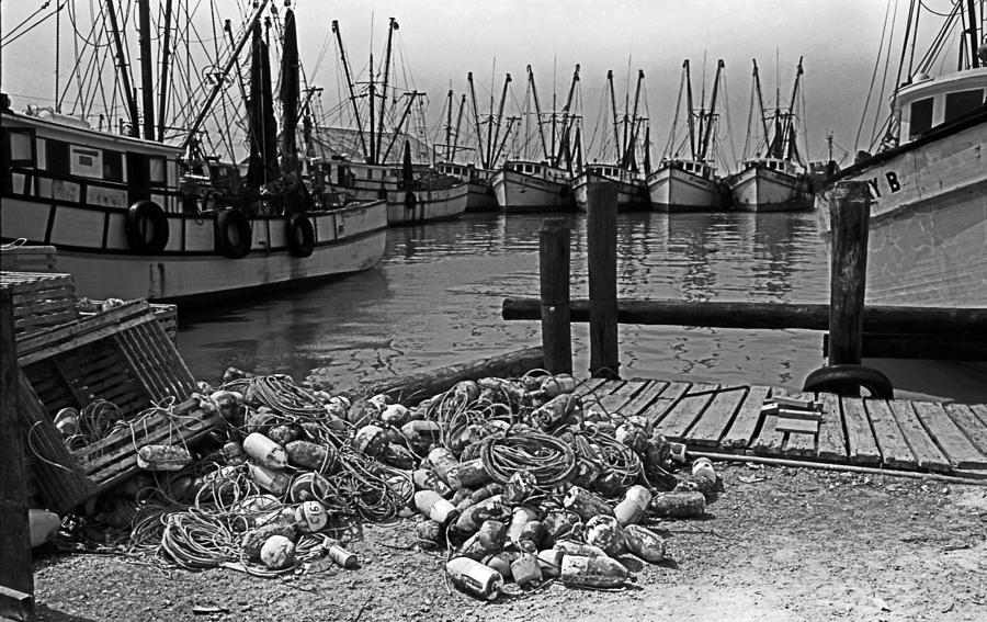 Boats Photograph - Shrimp Boats In Key West by Thomas D McManus