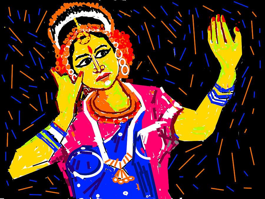 Still-life Portraits Digital Art - Shringara Rasa by Anand Swaroop Manchiraju