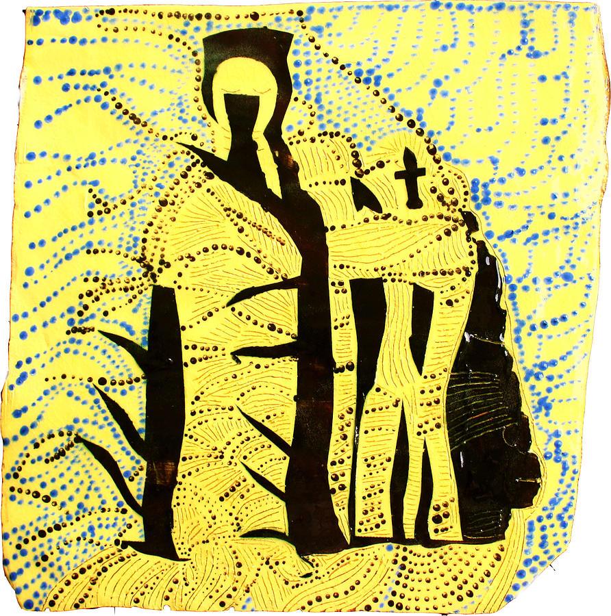 Jesus Ceramic Art - Shroud Of Jesus by Gloria Ssali