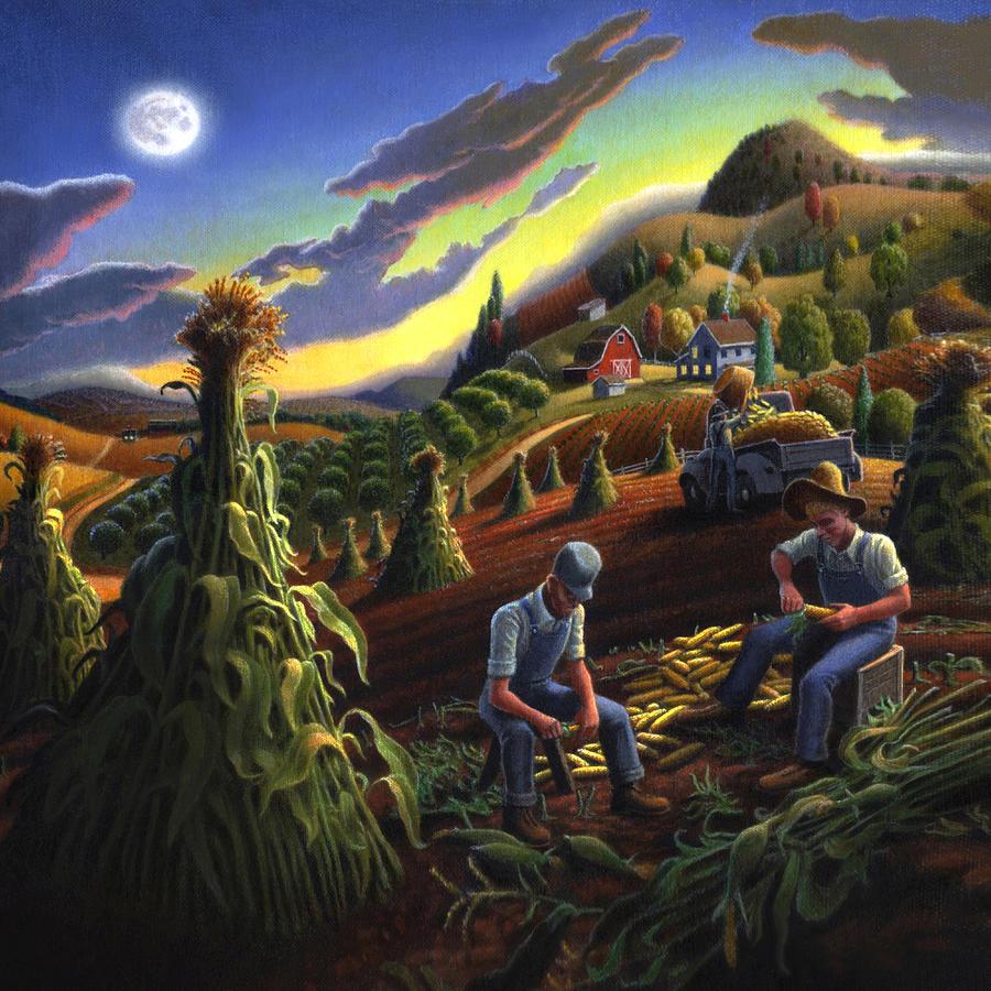 Folk Art Farm Paintings