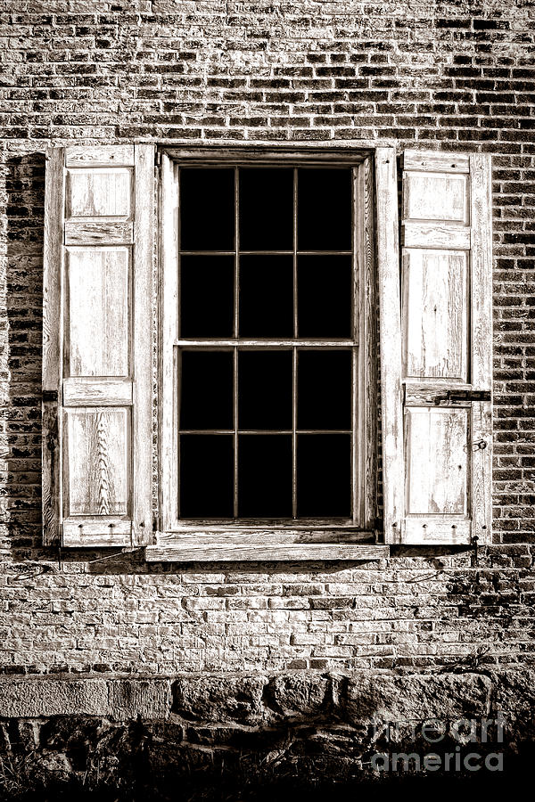 Window Photograph - Shutters by Olivier Le Queinec