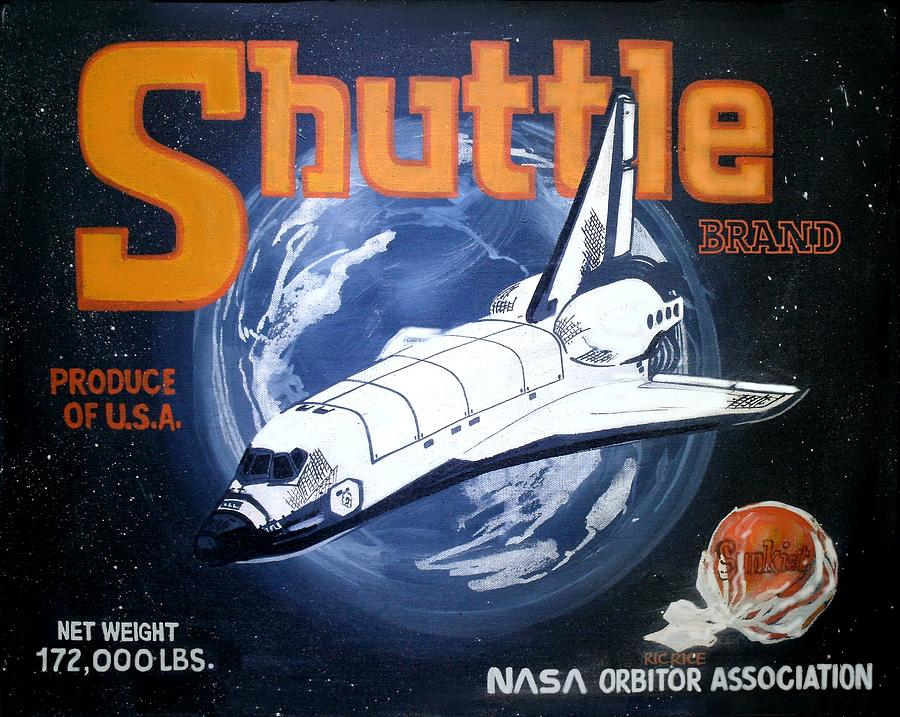 Illustrations Painting - Shuttle Brand by Ric Rice