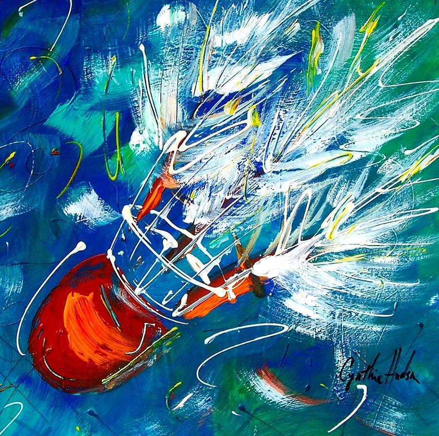 Shuttlecock Painting - Shuttlecock 3 by Cynthia Hudson