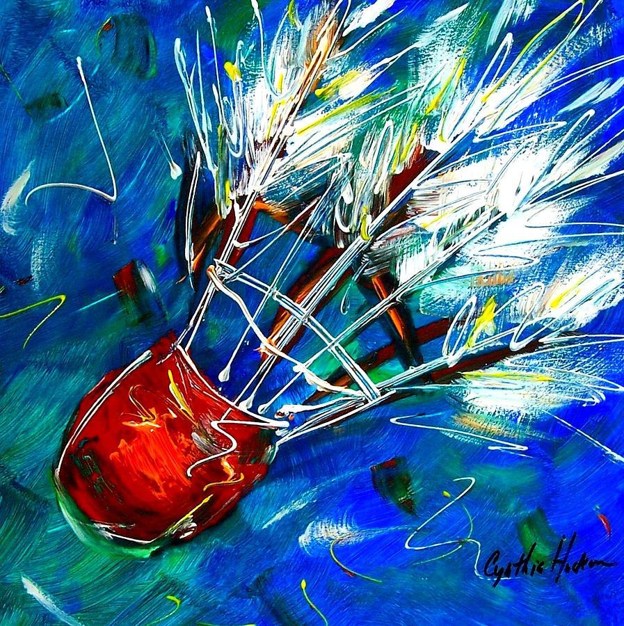 Shuttlecock Painting - Shuttlecock Ll by Cynthia Hudson