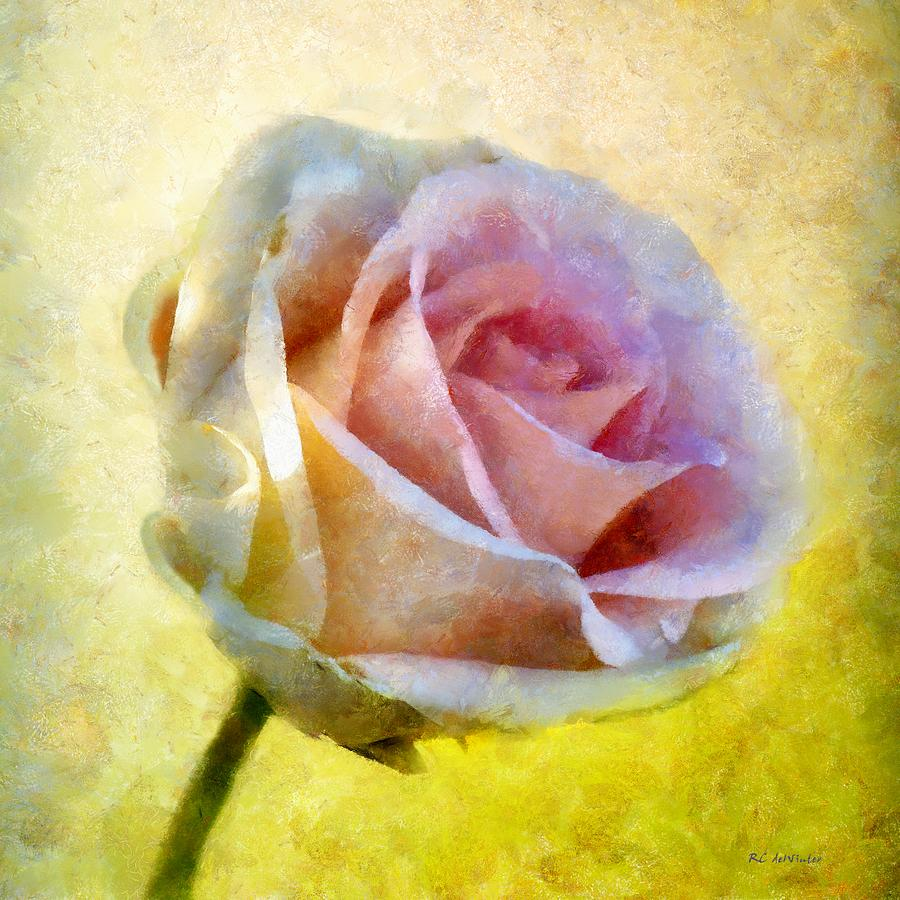 Floral Painting - Shy Underneath by RC deWinter