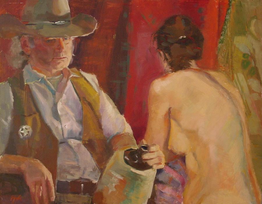 Sheriff Painting - SOLD Si la jeunesse savait si la vieillesse pouvait  by Irena  Jablonski
