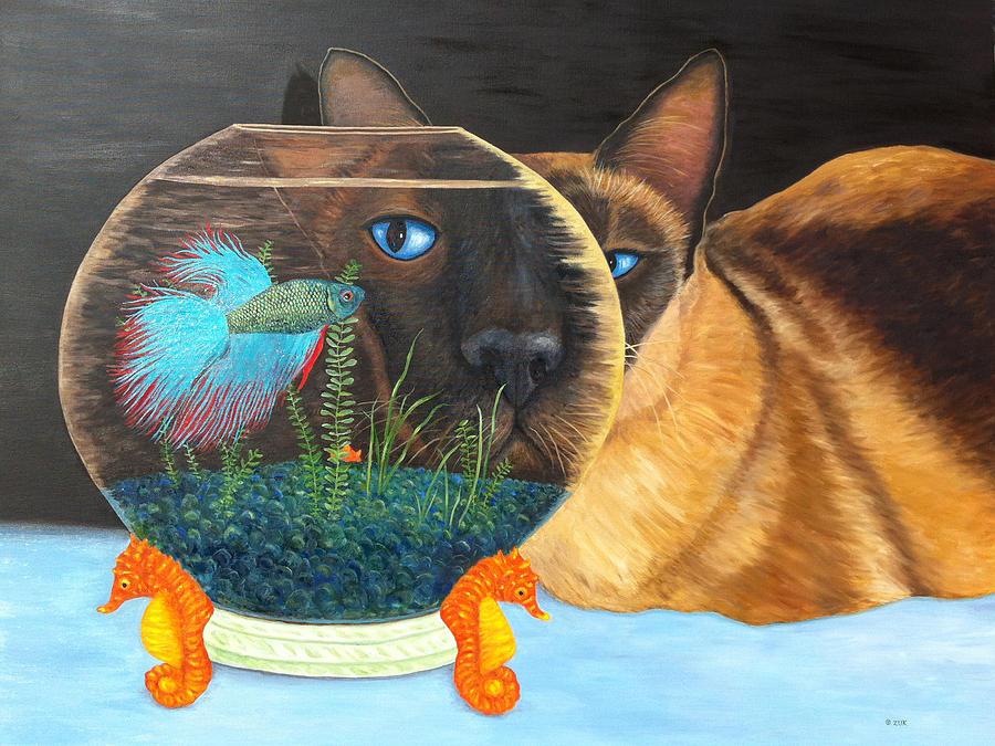 Siam I Am Painting by Karen Zuk Rosenblatt
