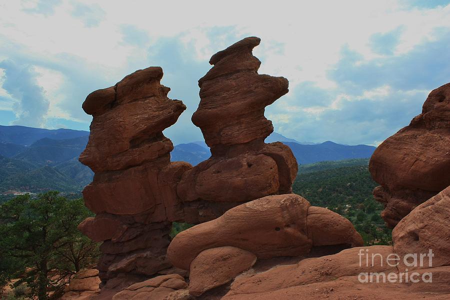 Colorado Photograph - Siamese Twins Garden Of The Gods Colorado by Robert D  Brozek