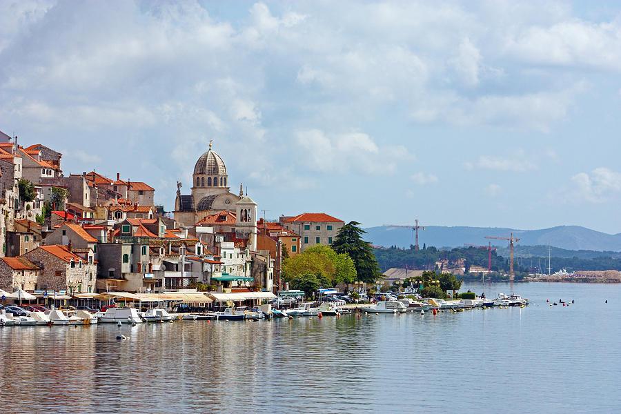 Adriatic Photograph - Sibenik Town On Adriatic Sea  by Borislav Marinic