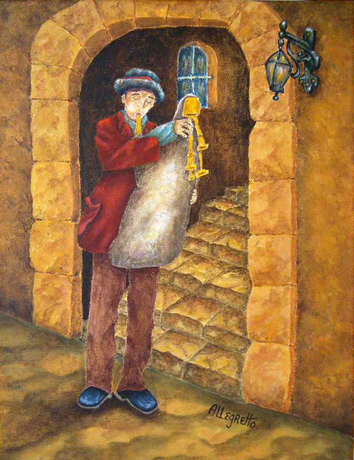 Italy Painting - Sicilian Ciaramella by Pamela Allegretto