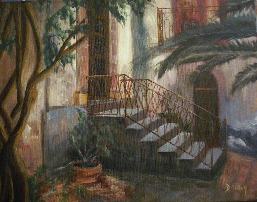 Sicily Painting - Sicilian Nunnery by Donna Tuten