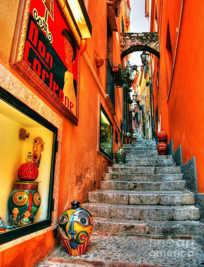 Cityscapes Photograph - Sicilian Steps by Mel Steinhauer