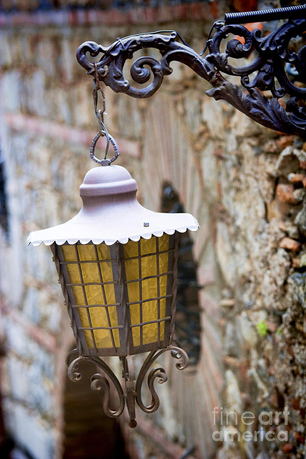Sicily Photograph - Sicilian Village Lamp by David Smith