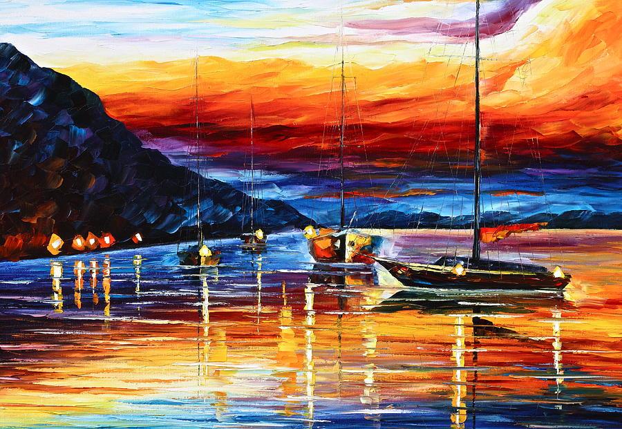 Sea Painting - Sicily Messina by Leonid Afremov