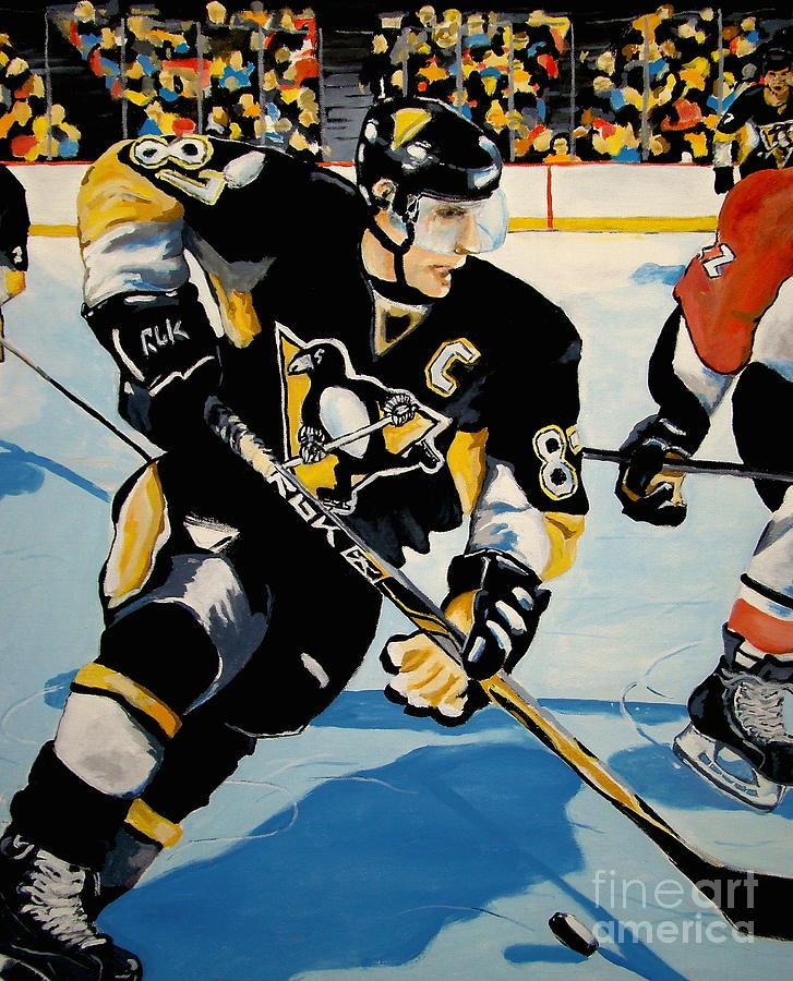 Sid Crosby Painting - Sid The Kid by Philip Kram