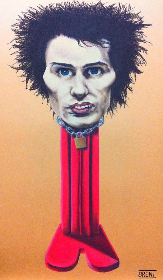 Sid Vicious Pastel - Sid Vicious by Brent Andrew Doty