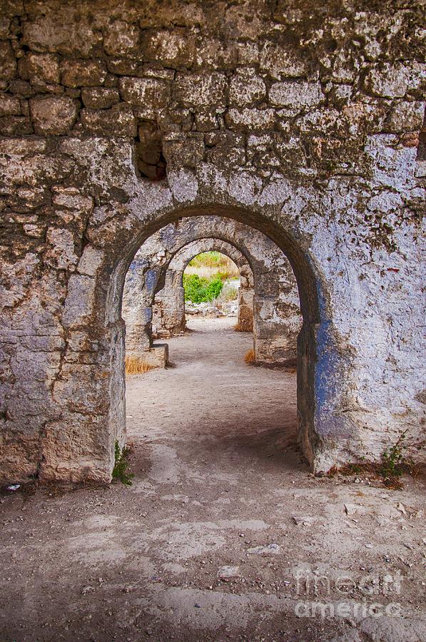 Byzantine Photograph - Side Byzantine Hospital 04 by Antony McAulay