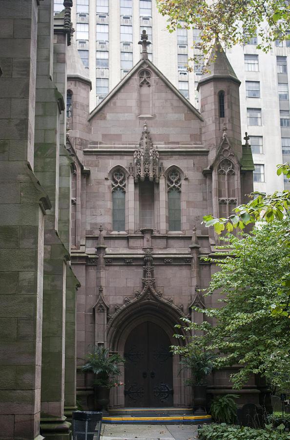 Trinity Church Photograph - Side Entrance by Teresa Mucha