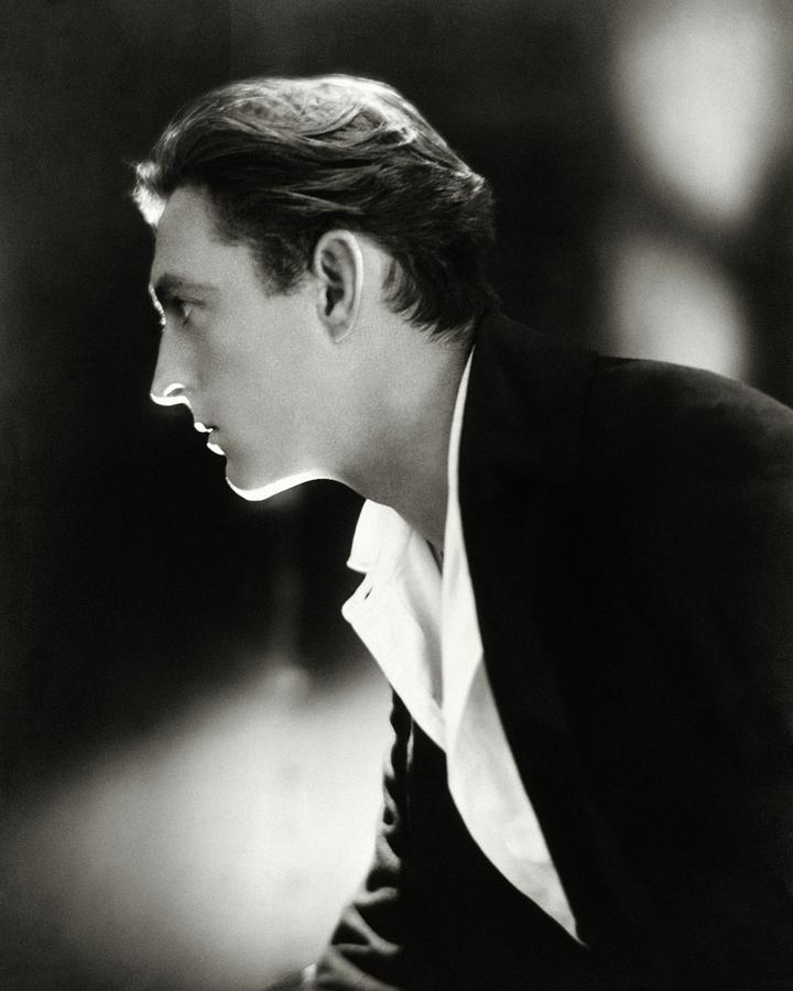 John Barrymore in Profile Photograph by Adolphe De Meyer